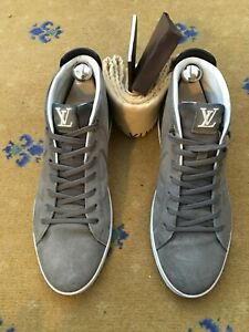 Louis Vuitton Mens Shoes Beige Suede Trainers Sneakers UK 7 US 8 EU 41 High Top