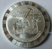 Rare! Silvertowne Poker Chip 1 oz .999 Silver Stacker Round Coin