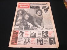 Melody Maker Magazine - July 13th 1968 - Cream John Mayall 20 page magazine