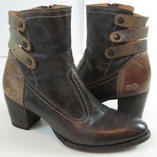 Bed/Stu Cobbler Womens Size 10 Navy Gray Lotus Glove Dawn Booties Leather