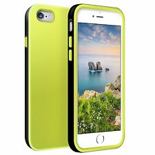 iPhone 6 6S Plus 5.5 Inch Case Front Back Silicon TPU Cover Lime Green Black