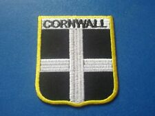 NOVELTY BACKPACKERS FLAG SHIELD SEW / IRON ON PATCH:- CORNWALL