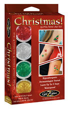 Glitter Tattoo Kit Temporary Tattoo Body Art for Christmas