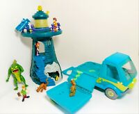Scooby Doo Haunted LightHouse With Figures  And Mystery Van Bundle