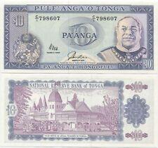 Tonga 10 Pa'anga 1992 UNC, P-28b, King Taufa'ahau Tupou IV, scarce