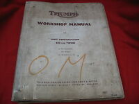 TRIUMPH 6T 650 THUNDERBIRD TR6 TROPHY T120 BONNEVILLE SERVICE REPAIR MANUAL