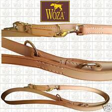 WOZA Premium Hundeleine Handgenäht Vollleder Lederleine Rindleder ПОВОДОК L12167