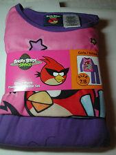 New Girls Angry Birds  2 piece Flannel Pajamas Sleepwear Set Size 7/8