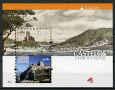 Portugal 2017 MNH Castles Europa Almourol Castle 2v M/S Architecture Stamps