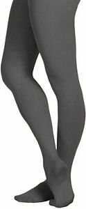 EMEM Apparel Women's Solid Colored Opaque Microfiber Footed Tights