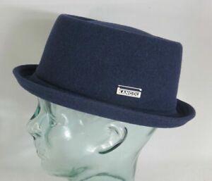 KANGOL WOOL MOWBRAY Pork Pie Hut Trilby blau Mütze PorkPie Wollhut NEU