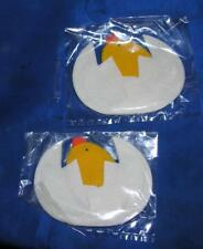 2 VTG 1960S PADDED EASTER FABRIC APPLIQUES, HATCHING CHICKS, GRT CRAFTS, CARDS