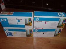 GENUINE HP SET 4 TONER CARTRIDGES Q6000A Q6001A Q6002A Q6003A 1600 2600 124A NEW