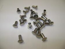 "25 Stainless Steel 1/8""X1/4"" Oval Head Semi Tubular Hollow Rivets Tonka Truck"