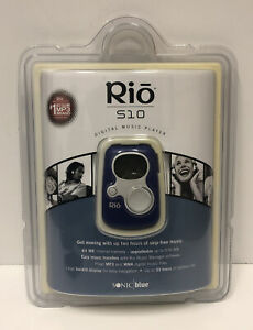 Sealed! RIO S10 64MB 1st Gen Vintage MP3 Player (Sonic Blue) Collectable
