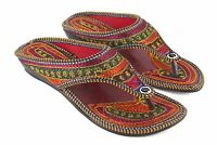 Jutti Indian Women Shoes Rajasthani Velvet Flat Flip Flops Ballerinas Mojari