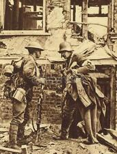 "British Army Soldier & Surrendering German Medic World War 1 6x4"" Reprint gw"