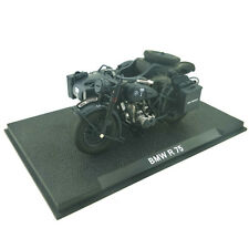 1/24 1939-1945 Atlas BMW R75 Motorcycle with sidecar combination Black(No dolls)