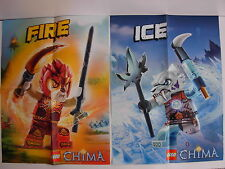New LEGO CHIMA Posters  Lot of 2 Poster  FIRE & ICE