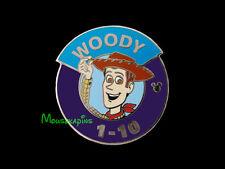 Toy Story Woody Purple Blue Wdw Magic Kingdom Heroes Parking Lot Sign Disney pin