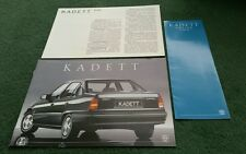 Nov 1986 / 1987 OPEL KADETT SALOON GERMAN BROCHURE PRICES Vauxhall Astra Belmont