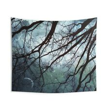Night Sky in the Woods by Marianna Mills - Indoor Wall Tapestry