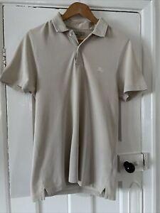 Burberry Size M Cream Polo Shirt