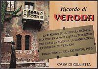 AA4569 Verona - Città - Ricordo - Casa di Giulietta - Cartolina - Postcard