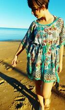 Ladies Kaftan Beach Dress Sheer Resort Waisted Small Medium 8 10 12 New SALE