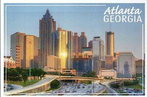 Skyline of Atlanta Georgia, Downtown, SunTrust Plaza etc., GA -- Modern Postcard