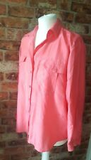 PURE SILK COLLECTION CORAL PINK BLOUSE SHIRT SIZE 14