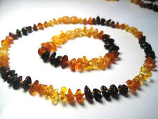 BALTIC AMBER BABY  NECKLACE AND BRACELET