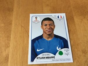 Kylian Mbappe France 1st World Cup Rookie  2018 Panini Sticker - Black Back #209