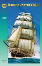 "ZVEZDA 9009 Clipper ""Cutty Sark"" Sailing Ship, Plastic Scale Model Kit 1/130"