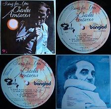 CHARLES AZNAVOUR I SING FOR YOU 1976 UNIQ CVR! UNIQ PS! MEGARARE CHILEAN PRESS!