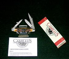Camillus 71 Sword Brand Knife Handmade Indian Stag Handles W/Packaging,Papers
