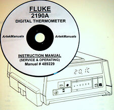 Fluke 2190a, digital thermometer, operating & service manual (good.