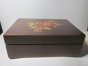 VINTAGE THE BRAZILIA COLLECTION BY DUNSTON INDLAID WOOD SEWING BOX
