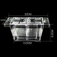 Fisch Tank Isolation Guppy Zucht Box Inkubator Tropical Isolation Box Fisch Z4T4