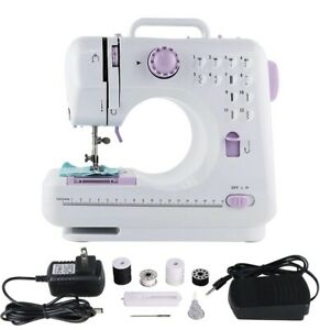 Electric Multi-function Mini Sewing Machine Portable LED 12 Stitches 2 Speed New
