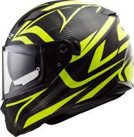 LS2 Stream Jink - Mattschwarz/Neongelb - Motorrad Helm - Integralhelm Kart Sport