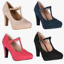 Zapatos Tacón Ancho Mujer Oferta Fiesta Salón Elegante Boda Plataforma Cómodos