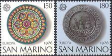 San Marino 1976 Europa/artesanía/Art/Plata/cerámica/placas/Cerámica 2v Set (n44097)