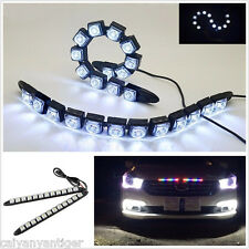 2pcs High Power 12LED 12w Bendable Daytime Running Light Day Fog Lamp Flexible