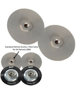 Pair of Hans M6 washers that fit HANS clips anchors FIA 8858-2002, 8858-2010