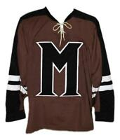Connor Banks Mystery Alaska Movie Hockey Jersey New Brown Any Size