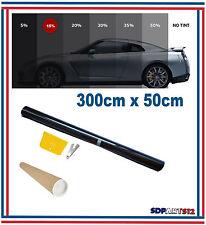 Film solaire de qualite 3m x 50cm, teinté 15% VLT (couleur Noir) auto,batiment
