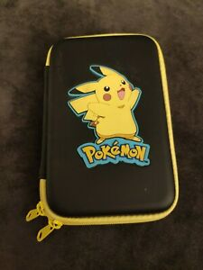 Nintendo 3DS Official Pikachu Pokemon Hard Pouch Carry Case Protector - Free P&P