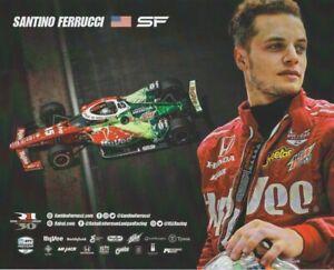 "2021 Santino Ferrucci Hy-Vee ""2nd Version"" Honda Dallara Indy Car Hero Card"
