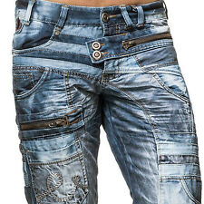 K&M Kosmo Lupo CHASE Herren Straight Cut Jeans Denim alle Gr. Neu